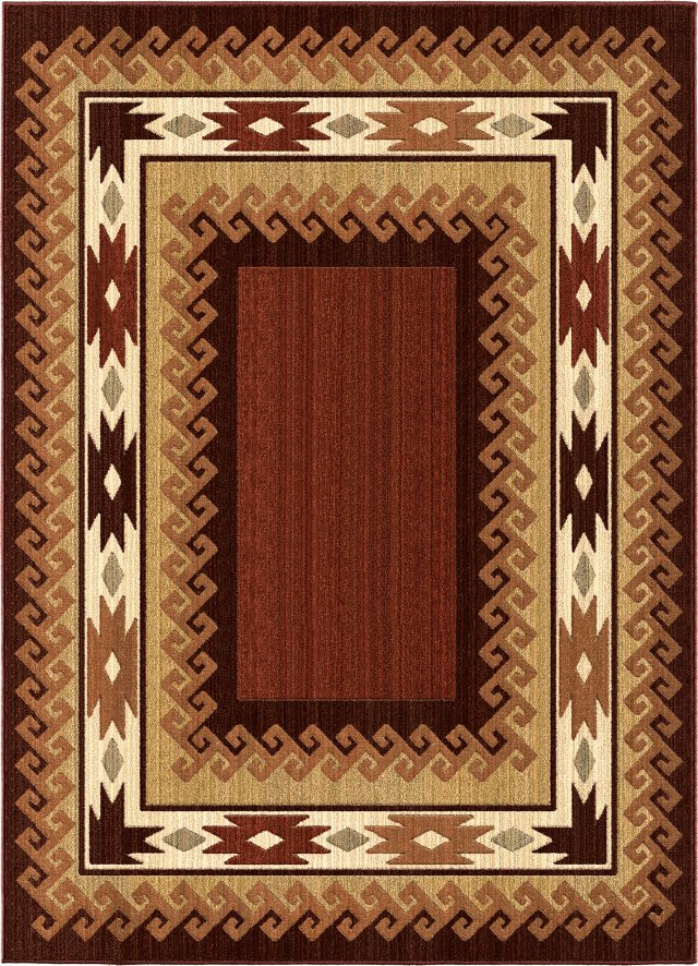 Southwestern Orian Rugs Anthology Multicolor Polypropylene