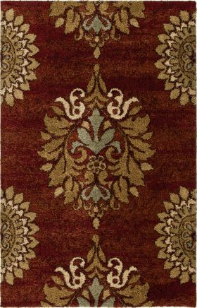 Traditional Orian Rugs Wild Weave Burgundy 12599