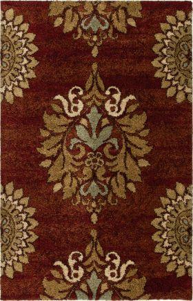 Traditional Orian Rugs Wild Weave Burgundy 12599