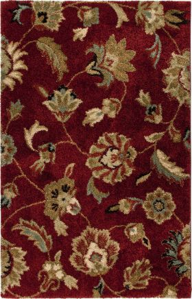 Traditional Orian Rugs Wild Weave Burgundy 12607