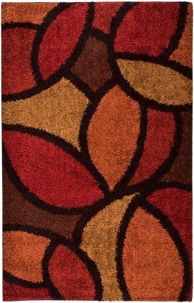 Shag Orian Rugs Shag-Ra-La Burgundy 12626