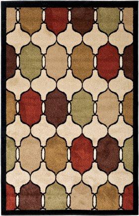 Contemporary Orian Rugs Four Seasons Gold 12639