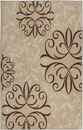 Floral Orian Rugs Four Seasons Cream 12648