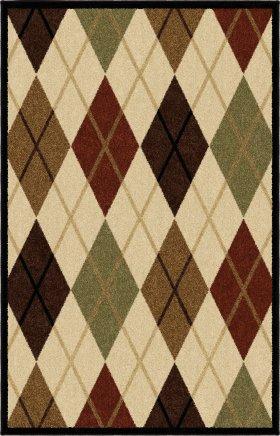 Contemporary Orian Rugs Four Seasons Gold 12657