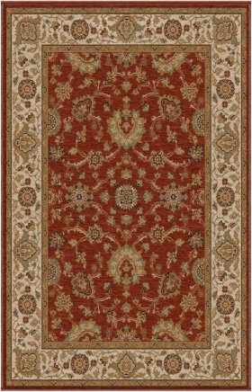 Transitional Orian Rugs Harmony Burgundy 12686