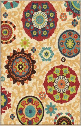 Floral Orian Rugs Veranda Cream 12700