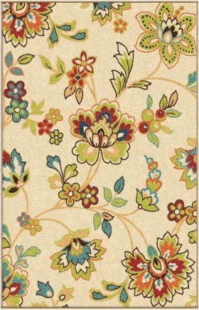 Floral Orian Rugs Veranda Gold 12705