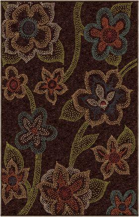 Floral Orian Rugs Veranda Brown 12713