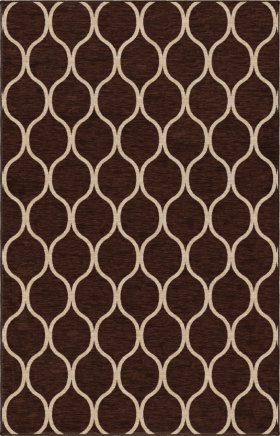 Transitional Orian Rugs Simplicity Brown 12735