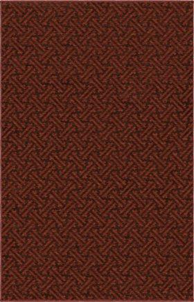 Transitional Orian Rugs Simplicity Burgundy 12740