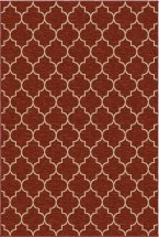 Transitional Orian Rugs Simplicity Burgundy 12747