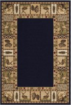Transitional Orian Rugs Oxford Black 12759