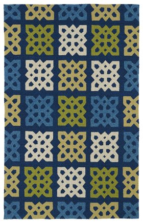 Contemporary Kaleen Rugs Home and Porch Blue 12781