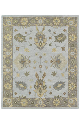 Southwestern Kaleen Rugs Brooklyn Grey 12790