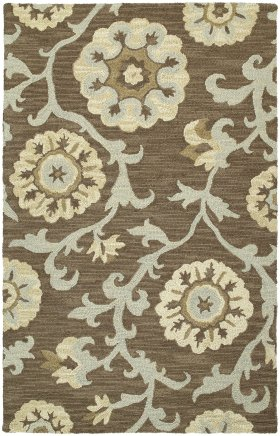 Floral  Kaleen Rugs Carriage Grey 12803