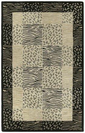 Animal Print Kaleen Rugs Khazana Beige 12812