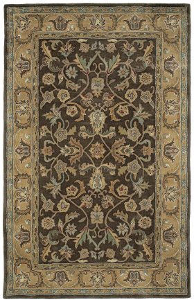 Traditional Kaleen Rugs Mystic Brown 12824