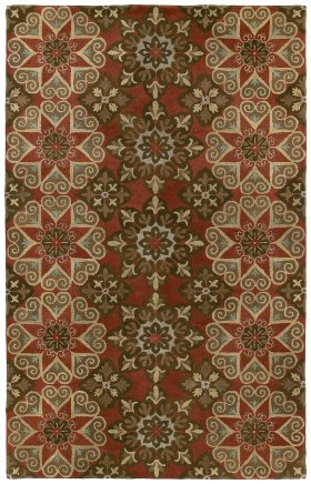 Traditional Kaleen Rugs Mystic Red 12826