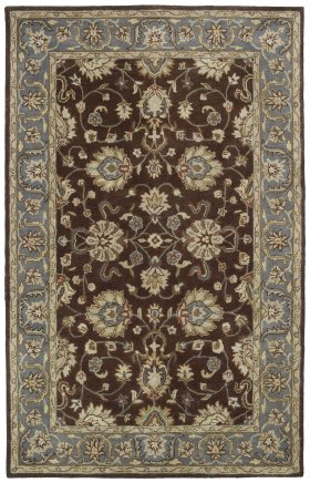 Traditional Kaleen Rugs Mystic Brown 12831