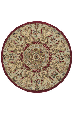 Traditional Kaleen Rugs Tara Rounds Red 12834