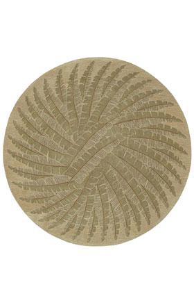 Traditional Kaleen Rugs Tara Rounds Gold 12835