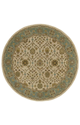 Traditional Kaleen Rugs Tara Rounds Ivory 12841