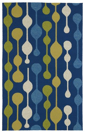 Contemporary Kaleen Rugs Home and Porch Blue 12852
