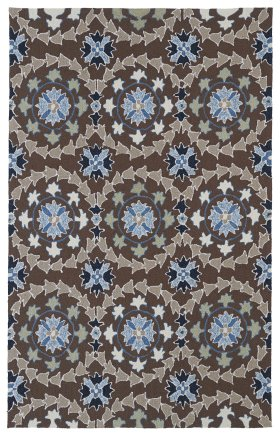 Transitional Kaleen Rugs Home and Porch Blue 12854