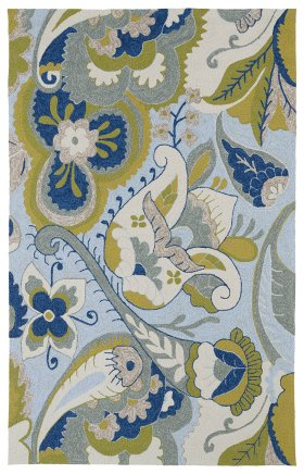 Transitional Kaleen Rugs Home and Porch Blue 12856