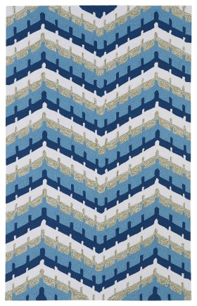 Contemporary Kaleen Rugs Home and Porch Blue 12859