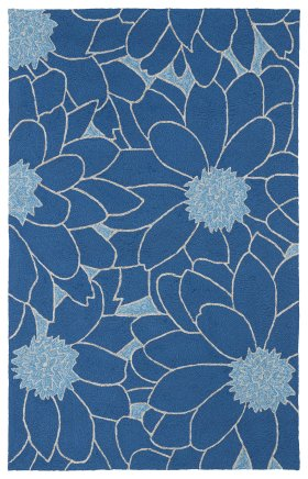 Contemporary Kaleen Rugs Home and Porch Blue 12861