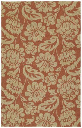 Floral Kaleen Rugs Habitat Orange 12885