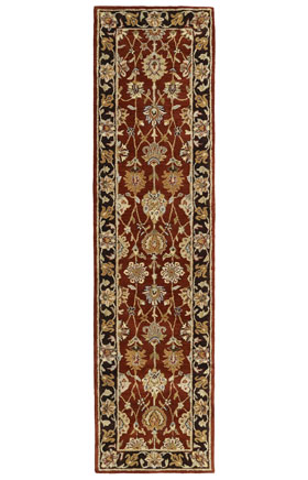 Traditional Kaleen Rugs Heirloom Collection Burgundy 12929