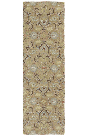 Traditional Kaleen Rugs Helena Collection Gold  12934