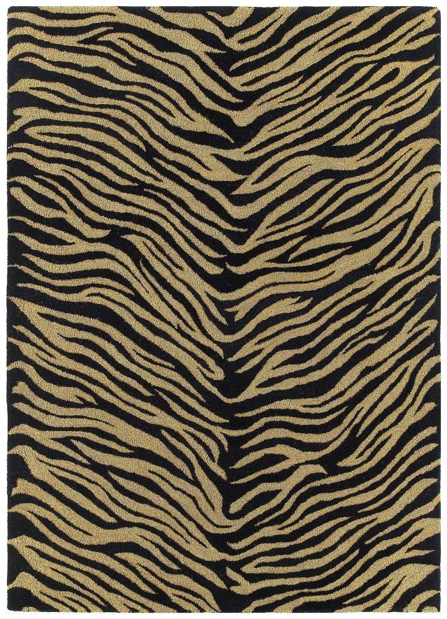 Animal Print Kaleen Rugs Khazana Grey Wool 12965