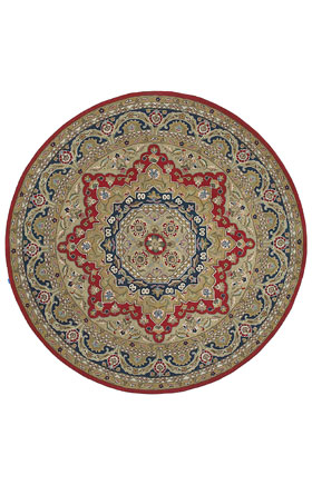 Traditional Kaleen Rugs Tara Rounds Red 13015