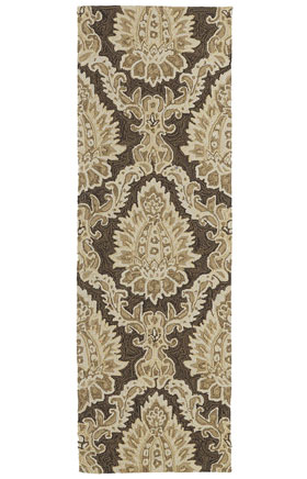 Transitional Kaleen Rugs Home and Porch Brown 13019
