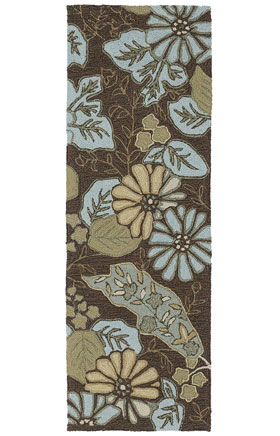 Transitional Kaleen Rugs Home and Porch Brown 13021