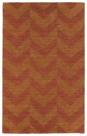 Transitional Kaleen Rugs Imprints Modern Orange 13074