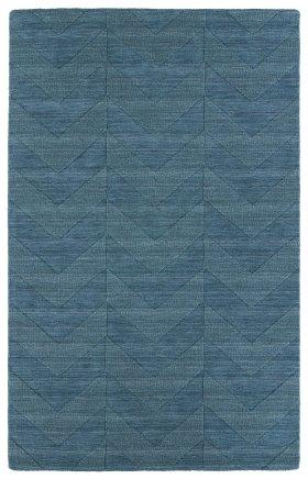 Transitional Kaleen Rugs Imprints Modern Blue 13075