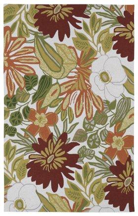 Floral Kaleen Rugs Matira Ivory 13090