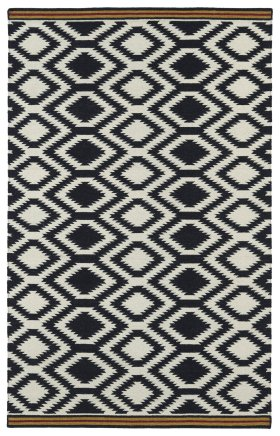 Transitional Kaleen Rugs Nomad Black 13106