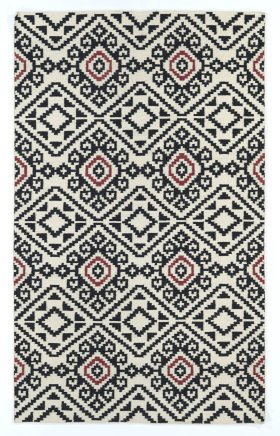 Transitional Kaleen Rugs Nomad Black 13109