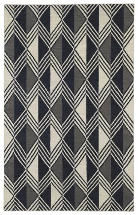Transitional Kaleen Rugs Nomad Black 13112