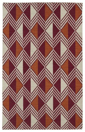 Transitional Kaleen Rugs Nomad Red 13113
