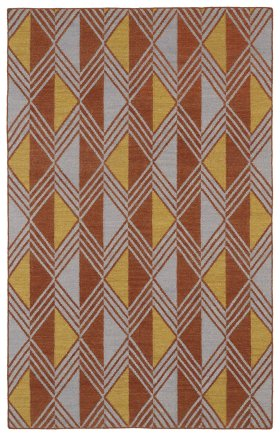 Transitional Kaleen Rugs Nomad Orange 13114