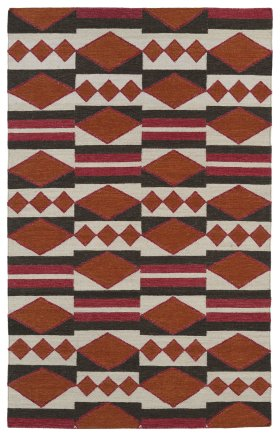 Transitional Kaleen Rugs Nomad Orange 13116