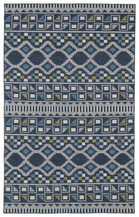 Transitional Kaleen Rugs Nomad Blue 13118