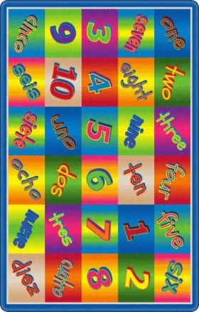 Kids Flagship Rugs Kaleidoscope-Numbers Multicolor  13153