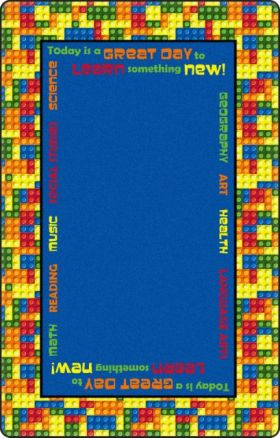Kids Flagship Rugs Learning-Blocks Blue  13158